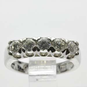 Anello Fedina Riviera Diamanti Oro Bianco C.1,50