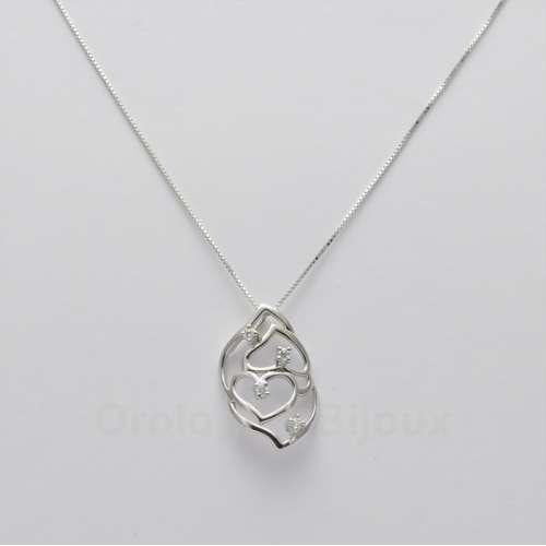 Collana girocollo donna oro diamanti fantasia