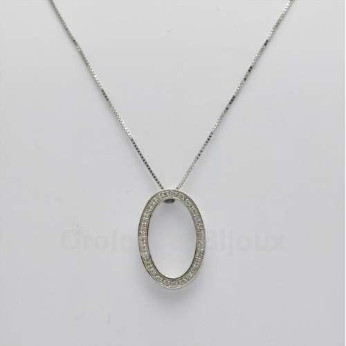 Collana Comete Girocollo GLB300 Diamanti Oro bianco kt 18