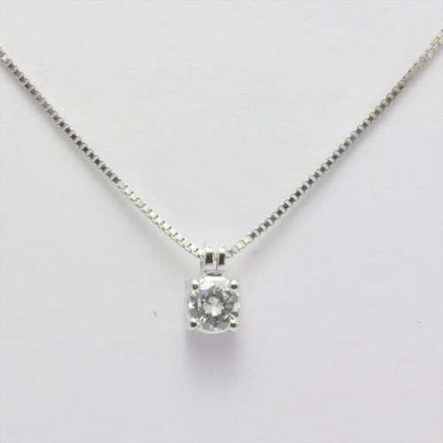 Collana Punto Luce Diamante Oro bianco CD020GVS