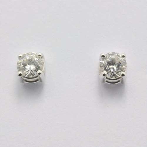 Orecchini Diamanti Punto Luce Oro bianco OD043GSI