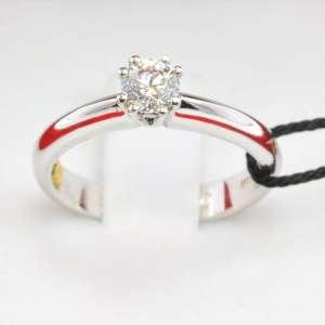 Recarlo Anello Solitario Diamante Ct 041 oro Bianco ZT172040