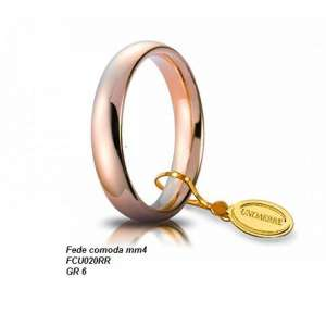 Fede Comoda UNOAERRE 4 mm 40AFC1 oro rosa