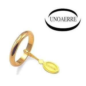 Anello Fede Classica UNOAERRE francesina g4 oro giallo 40AFN4