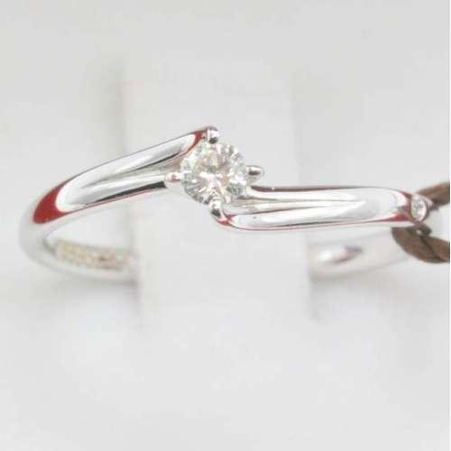 Solitario Valentine AS0150B09  Anello solitario in oro bianco e diamanti Bibigì