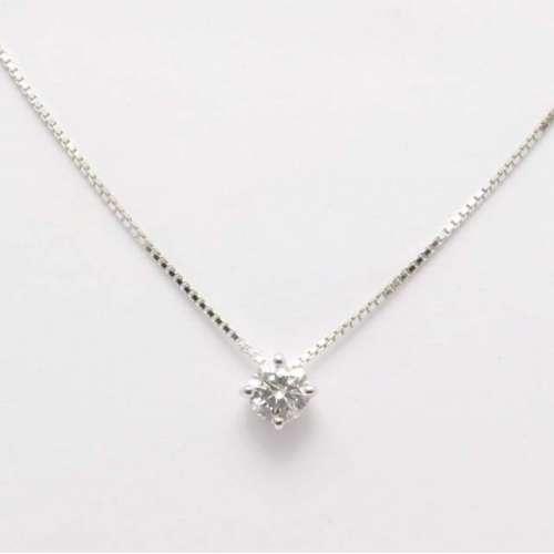 Collana Punto Luce Girocollo Oro bianco diamante Bibigì CLS1723B30