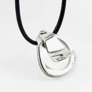 collana argento  LA LINGUETTA NECK Modello: LLN-AgRhZ001