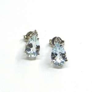 Orecchini Acquamarina Demetra Oro 18 kt Diamante 028339204