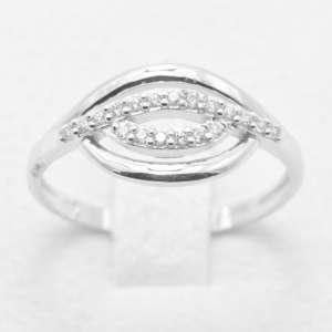 anello donna fascia oro bianco zirconi AOBZ23