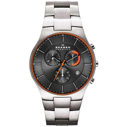Orologio uomo cronografo Titanio Skagen Aktiv SKW6076