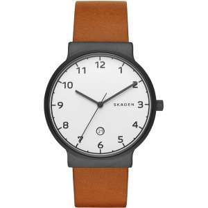 orologio solo tempo uomo Skagen SKW6297 pelle