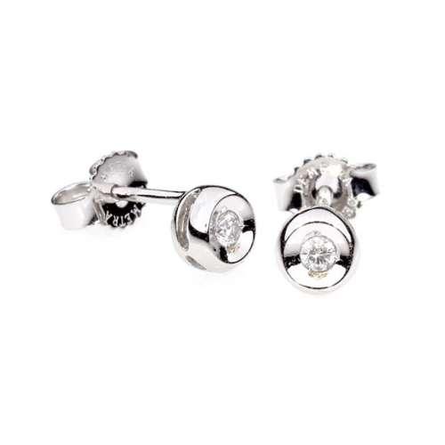 Orecchini Oro 18 kt Punto luce diamante Demetra Monte Carlo 021.099.002