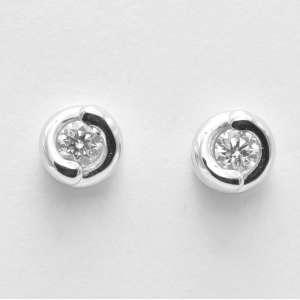 Orecchini punto luce oro bianco Diamante 0,32 ABBRACCIO 10043276