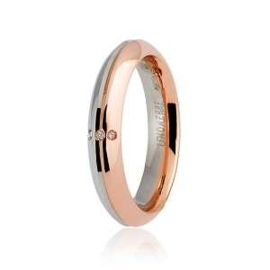 Fede Nuziale Eterna UNOAERRE Bianco Rosa Diamanti 070AFC290-0030