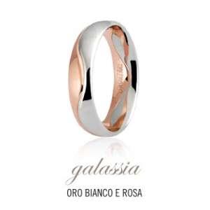 FEDE UNOAERRE GALASSIA COLLEZIONE FEDI 9.0 IN ORO BIANCO E ROSA REF. 050AFC009/0000