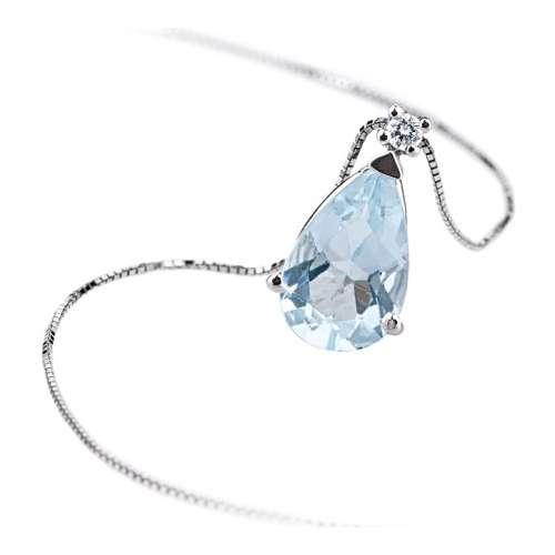 buon servizio ricco e magnifico la moda più votata Collana girocollo Acquamarina diamante Demetra 038.249.002